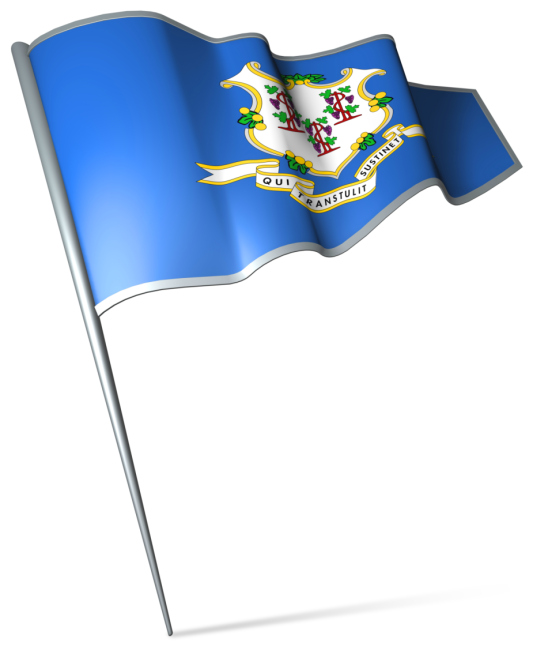 The flag of Connecticut is honored by Winters Bros. who take their commitment to CT cleanliness very seriously