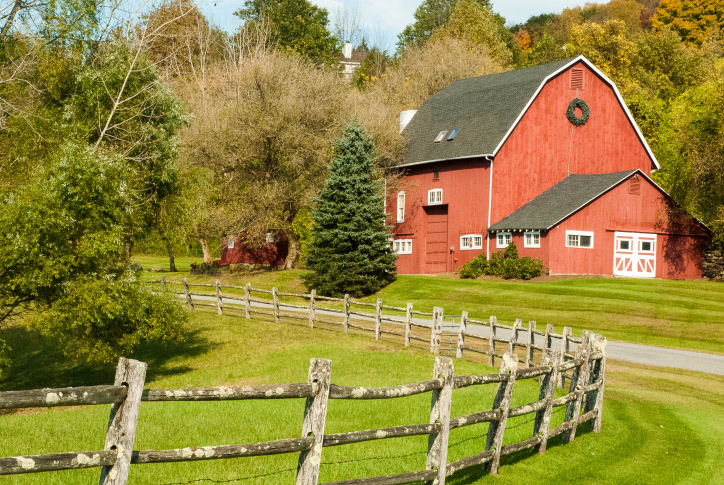 A farm that recently renovated in Sherman, CT and used a dumpster provided by Oak Ridge Waste systems
